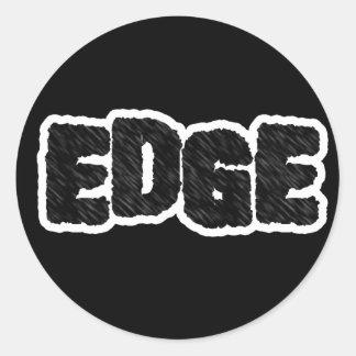 Edge Classic Round Sticker