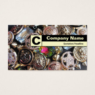 Edge Labeled Monogram - Flea Market Bling Business Card