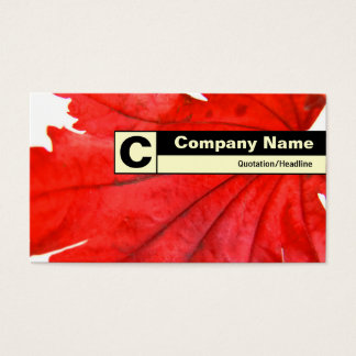 Edge Labeled Monogram - Japanese Maple Leaf Business Card