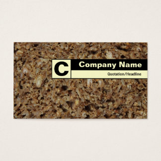 Edge Labeled Monogram - Rye Bread Business Card