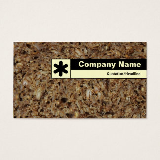 Edge Labeled - Rye Bread Business Card