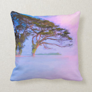 Edge Of A Dream - Lake Nicaragua Waterscape Throw Pillow