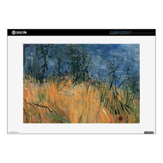 Edge Of a Wheat field With Poppies 1887, Van Gogh. Decals For Laptops