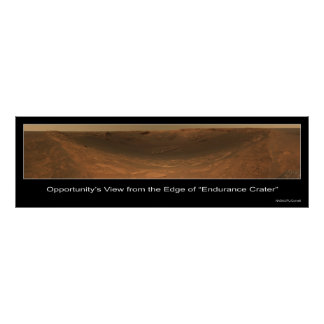 Edge of Endurance Crater Rover View on Mars Poster