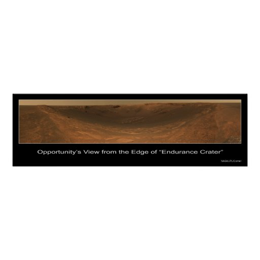 Edge of Endurance Crater Rover View on Mars Posters