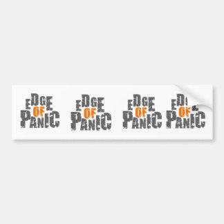 Edge of Panic 4 x Square Bumper Sticker