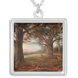Edge of Sherwood Forest Square Pendant Necklace