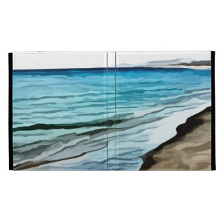 edge of the beach painting iPad case