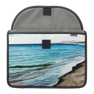 edge of the beach painting MacBook pro sleeve