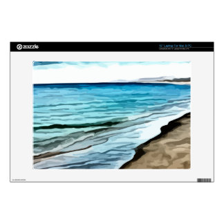 """edge of the beach painting skin for 13"""" laptop"""