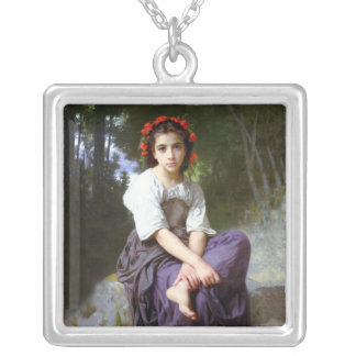 Edge of the Brook Vintage Fine Art Necklace