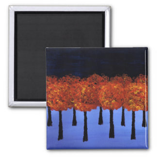 Edge of the Orange Forest 2 Inch Square Magnet