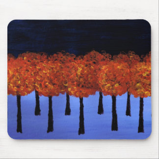 Edge of the Orange Forest Mouse Pad