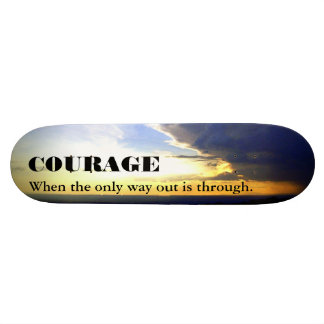 Edge of the Storm COURAGE skateboard