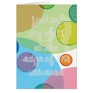 Edge of the Universe / Bee Gees - Music Lyric Art Card