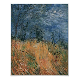 Edge of Wheatfield with Poppies Van Gogh Fine Art Poster