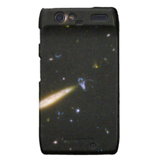 Edge-On Spiral Galaxy Collides With Small Blue Gal Motorola Droid RAZR Cover