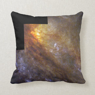 Edge-On Spiral Galaxy NGC 253- Behind a Dusty Veil Throw Pillow