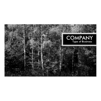 Edge Tag - Silver Birch Trees B&W Double-Sided Standard Business Cards (Pack Of 100)