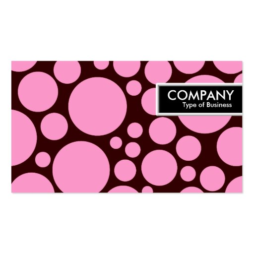 Edge Tag - Spotty - Pink on Dark Brown Business Card
