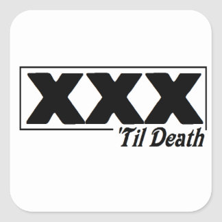 EDGE TIL DEATH - Square sticker. Square Sticker
