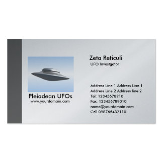 Edge UFO Investigator - Gray Double-Sided Standard Business Cards (Pack Of 100)