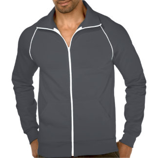 EDGE White Logo American Apparel Track Jacket