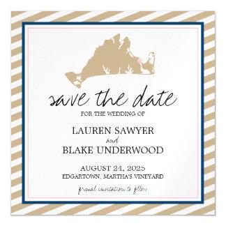 Edgertown Martha's Vineyard Wedding Save the Date Magnetic Card