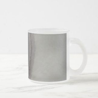 Edges - calm abstraction frosted glass coffee mug