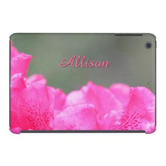 Edges of Deep Pink Azalea Personalized iPad Mini Retina Cover