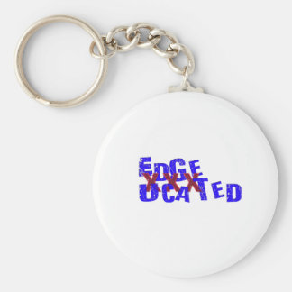 edgeucated basic round button keychain