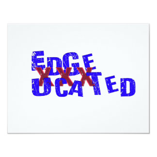 edgeucated 4.25x5.5 paper invitation card