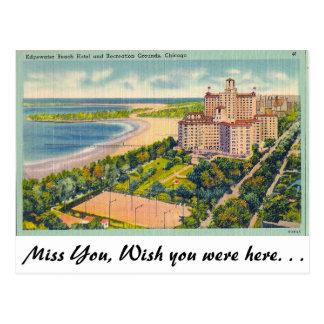 Edgewater Beach, Chicago, Ill. Postcard