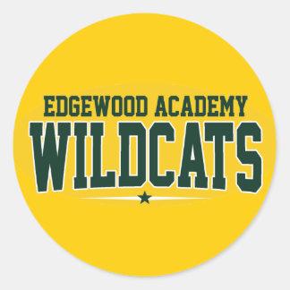Edgewood Academy; Wildcats Classic Round Sticker