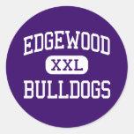 Edgewood - Bulldogs - High School - Edgewood Texas Round Stickers