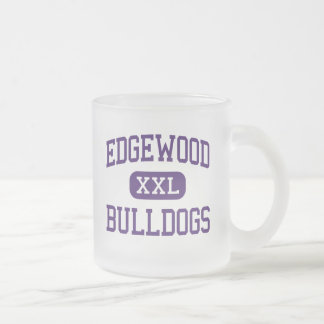 Edgewood - Bulldogs - Junior - Edgewood Texas Frosted Glass Coffee Mug