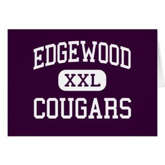 Edgewood - Cougars - High School - Trenton Ohio Greeting Card