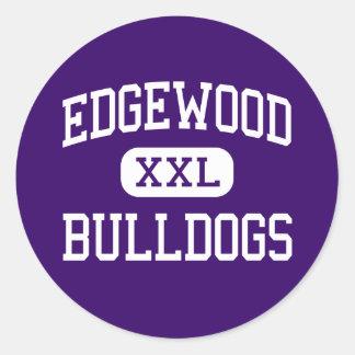 Edgewood - dogos - High School secundaria - Pegatinas Redondas