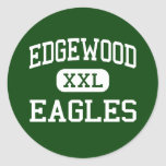 Edgewood - Eagles - High School secundaria - Atco Pegatinas Redondas