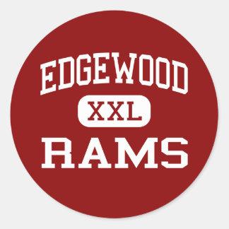 Edgewood - espolones - High School secundaria - Etiquetas Redondas