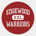 Edgewood - guerreros - High School secundaria - As Etiqueta Redonda