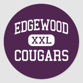 Edgewood - pumas - High School secundaria - Pegatina Redonda