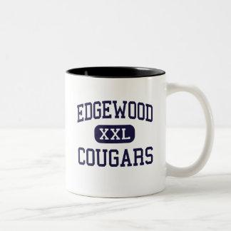 Edgewood - pumas - High School secundaria - Taza De Dos Tonos