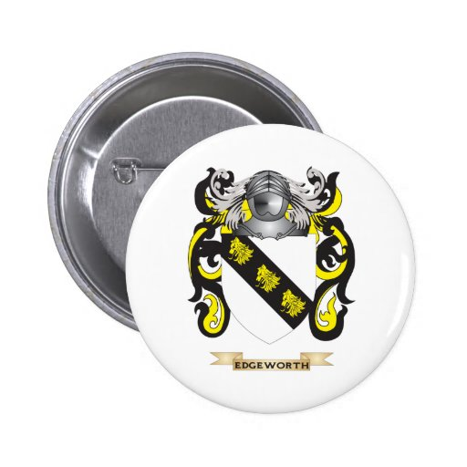 Edgeworth Coat of Arms 2 Inch Round Button