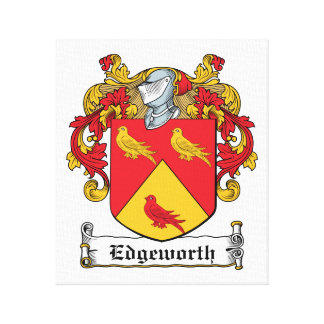 Edgeworth Family Crest Canvas Print
