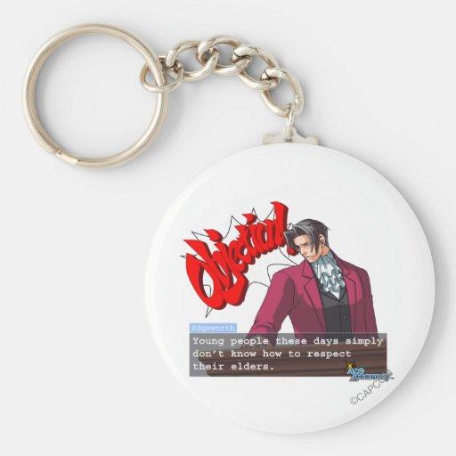 """Edgeworth - """"Respect"""" Basic Round Button Keychain"""