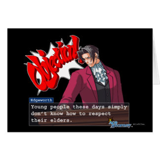 "Edgeworth - ""Respect"" Card"