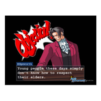 "Edgeworth - ""Respect"" Postcard"