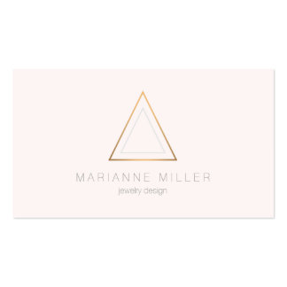 Edgy and Modern Copper Triangle Logo Business Card