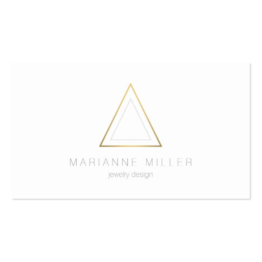 Edgy and Modern Gold Triangle Logo Business Card